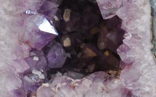 Amethyst-Kristall-Druse Nahaufnahme