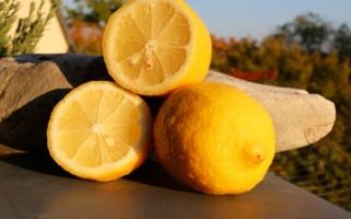 Zitronen ganz und halbiert