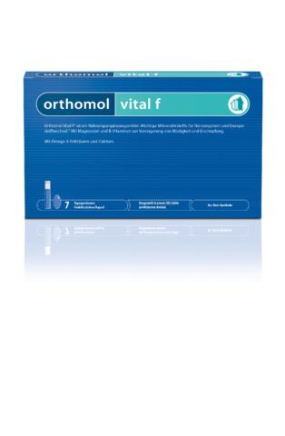 Packung Trinkfläschchen Orthomol Vital F