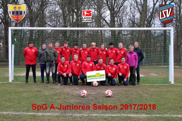 Mannschaftsfoto SpG A-Junioren Saison 2017/2018